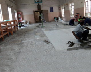 Fixing of Industrial Tiles